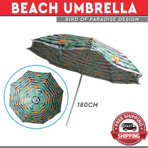 Beach Umbrella Birds of Paradise Print