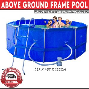 Above Ground Pool Frame with Filter Pump