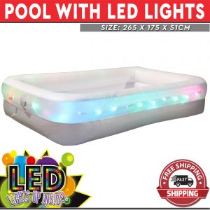 inflatable pool with LED lights
