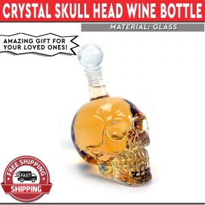 Skull Head Wine Bottle 1000ml Crystal Bottle Vodka Whiske