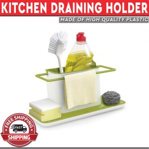 Kitchen Draining Rack Brush Sponge Towel Holder