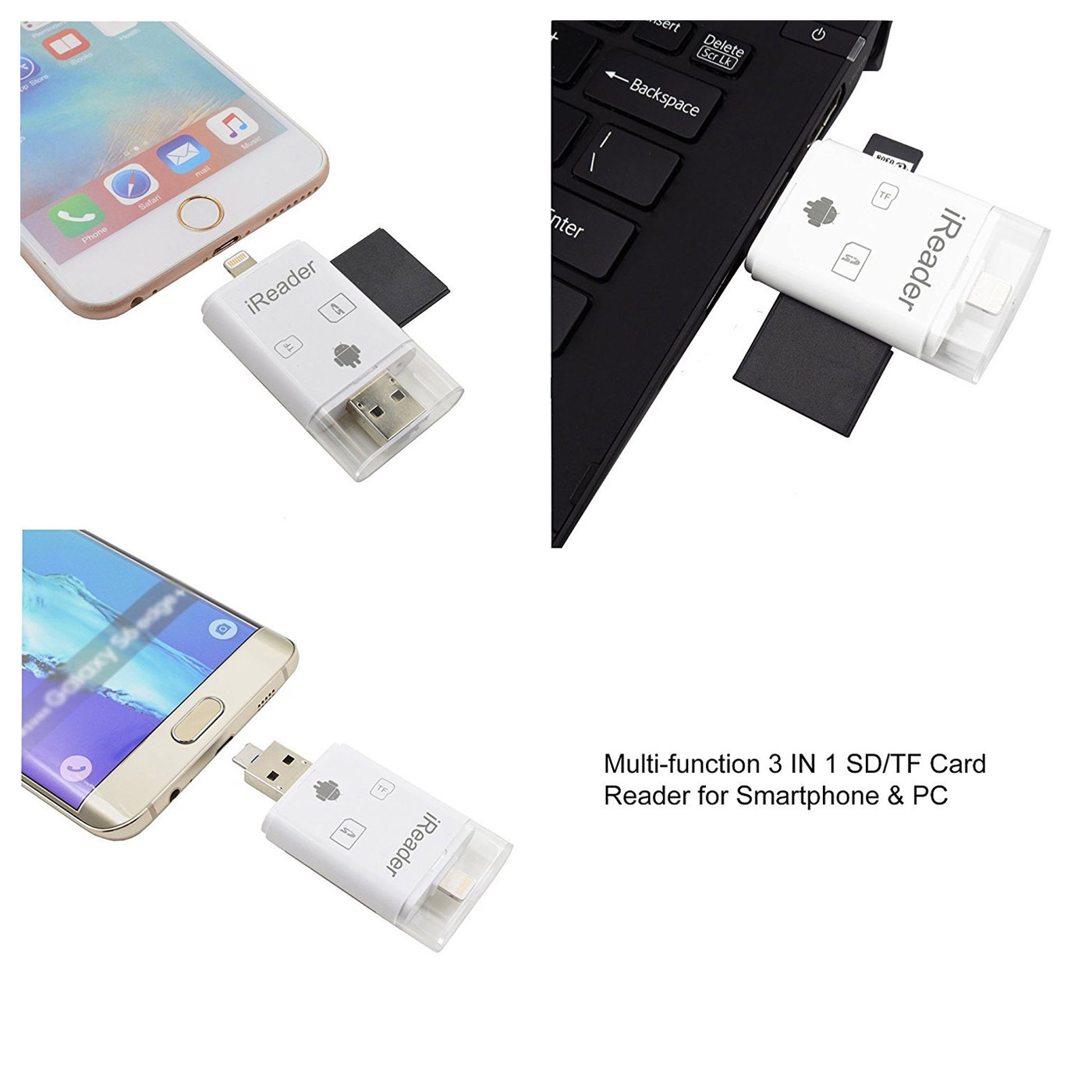 Multiple Card Reader Usb Otg Tf Micro Sd Sdhc Nic Nax Discount Iflash Device Hd Drive For Iphone Ipad Android Phone Computer