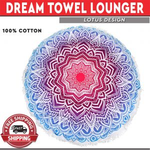 Dream Towel Lounger Lotus Design - Air Bed Mat