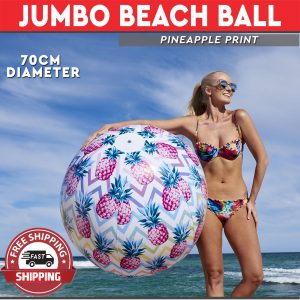 Jumbo Beach Ball 70cm Pineapple Print