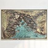 D&D 5a ED. : MAPPA DI BALDUR'S GATE Accessorio Gioco di Ruolo