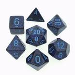 7 Die Set Chessex SPECKLED COBALT blue 25307 MACULATO COBALTO blu Dadi Dado Dice