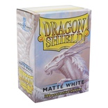 100 Protective Sleeves Dragon Shield Magic MATTE WHITE Bustine Protettive Buste