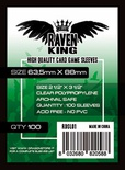 100 Sleeves RAVEN KING 63,5x88 Bustine Protettive
