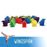 WINGSPAN : 40x Action Marker Deluxe Casette Uccelli Token