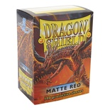 100 Protective Sleeves Dragon Shield Magic MATTE RED Bustine Protettive Rosso