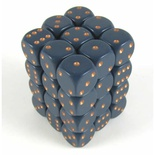 36 d6 Dice Set Chessex DUSTY BLUE gold 25826 Dadi Opaco Blu Sporco oro