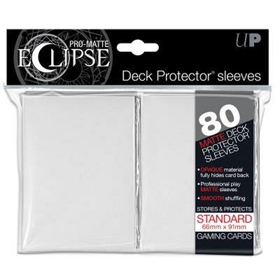 80 Sleeves Ultra Pro ECLIPSE PRO MATTE Bianco Bustine Protettive White