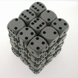 36 d6 Die Set Chessex OPAQUE GREY black Dice OPACO GRIGIO nero Dadi Dado 25810