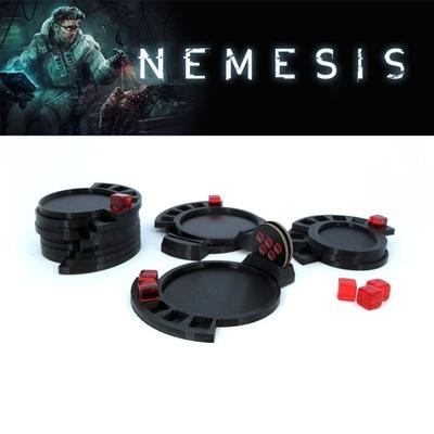 Nemesis : 14x Set Basette per Mostri e Cubi Monster Base Queen Wound Marker