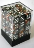 36 d6 Dice Set Chessex COPPER STEEL White 26824  RAME ACCIAIO Bianco Dadi Dado