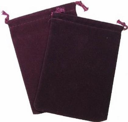 Cloth Dice Bag Large Chessex BURGUNDY Sacchetto di Stoffa per Dadi Grande Borgogna