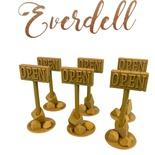 Everdell: 6x Insegna Aperto 3D