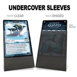 100 Sleeves Ultimate Guard UNDERCOVER STANDARD PRECISE FIT Clear Black Bustine Protettive