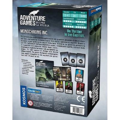 ADVENTURE GAMES : MONOCHROME INC. Gioco da Tavolo