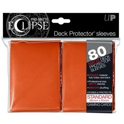 80 Sleeves Ultra Pro ECLIPSE PRO MATTE Arancione Bustine Protettive Orange