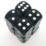12 d6 Dice Set Chessex TRANSLUCENT SMOKE white 23608 TRASPARENTI FUMO bianco Dadi Dado