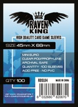 100 Sleeves RAVEN KING 45x68 Bustine Protettive Mini Euro
