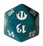 Magic SPINDOWN Dice d20 JOU Green Verde Dado Segna Punti Life Counter