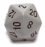 d20 Dice Chessex 16mm Opaque Dark Grey black PQ2010 Dado Opaco Grigio Scuro nero
