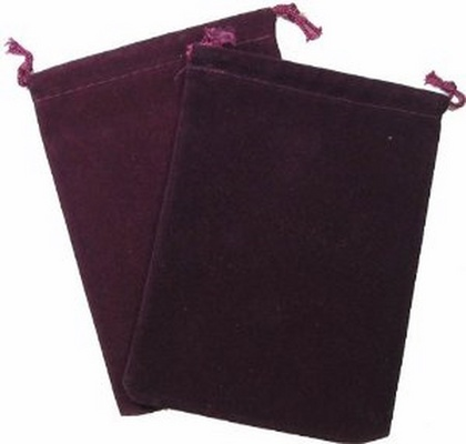 Cloth Dice Bag Small Chessex BURGUNDY Sacchetto di Stoffa per Dadi Piccolo Borgogna