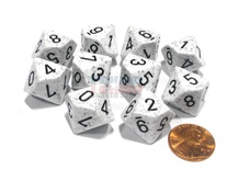 10 d10 Dice Set Chessex SPECKLED ARCTIC CAMO Black 25111 MACULATO ARTICO Nero Dadi Dado
