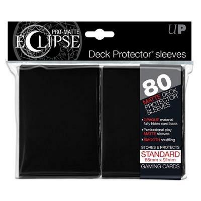 80 Sleeves Ultra Pro ECLIPSE PRO MATTE Nero Bustine Protettive Black