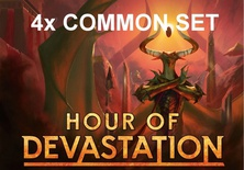4x Common Set Magic HOUR OF DEVASTATION Set Comuni HOU Inglese