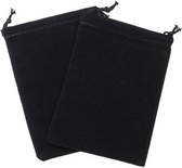 Cloth Dice Bag Large Chessex BLACK Sacchetto di Stoffa per Dadi Grande Nero