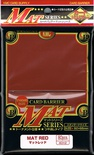 80 Card Barrier Kmc Magic MAT SERIES RED Rosso Bustine Protettive Buste 66x91