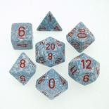 7 Die Set Chessex SPECKLED GRANITE red 25320 MACULATO GRANITO rosso Dadi Dado Dice