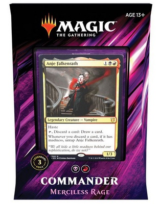 Mazzo Magic Commander 2019 MERCILESS RAGE Deck C19 Italiano
