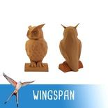WINGSPAN : Segnalino Gufo Primo Giocatore Oro Deluxe 3D Token
