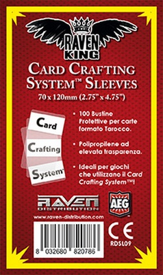100 Sleeves RAVEN KING 70x120 Card Crafting System Bustine Protettive