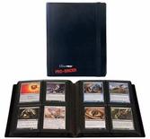 Album Ultra Pro PRO BINDER BLACK Nero Raccoglitore 4 Tasche 20 Pagine