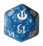 Magic SPINDOWN Dice d20 JOU Blue Blue Dado Segna Punti Life Counter