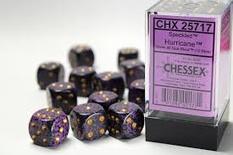 12 d6 Dice Set Chessex SPECKLED HURRICANE 25717 Purple Viola Dadi Dado Die