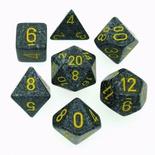 7 Die Set Chessex SPECKLED URBAN CAMO yellow 25328 MACULATO MIMETICO URBANO giallo Dadi Dado Dice