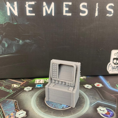 NEMESIS : Computer Astronave 3D Console Token Sci-fi Mod L