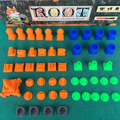 Root: Set 51x Token Deluxe 3D