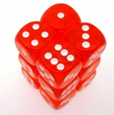 12 d6 Dice Set Chessex TRANSLUCENT TEAL ORANGE 23603 TRASPARENTI ARANCIO bianco Dadi Dado