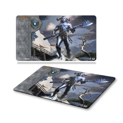 Playmat Ultra Pro Magic MANA 3 BLUE FROST TITAN Blu Tappetino 60x40 cm Carte