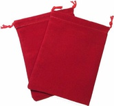 Cloth Dice Bag Large Chessex RED Sacchetto di Stoffa per Dadi Grande Rosso
