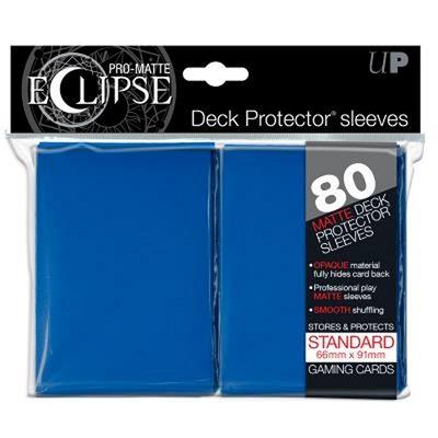 80 Sleeves Ultra Pro ECLIPSE PRO MATTE Blu Bustine Protettive Blue