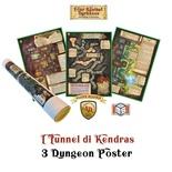 FOUR AGAINST DARKNESS : I TUNNEL DI KENDRAS - 3 DUNGEON POSTERS Avventura Gioco di Ruolo