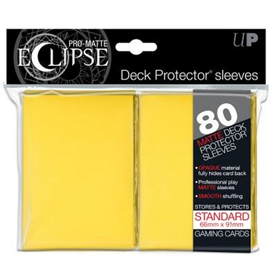 80 Sleeves Ultra Pro ECLIPSE PRO MATTE Giallo Bustine Protettive Yellow